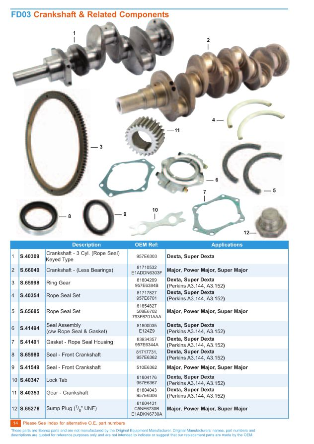 Fordson Engine (Page 16) | Sparex Parts Lists & Diagrams ...
