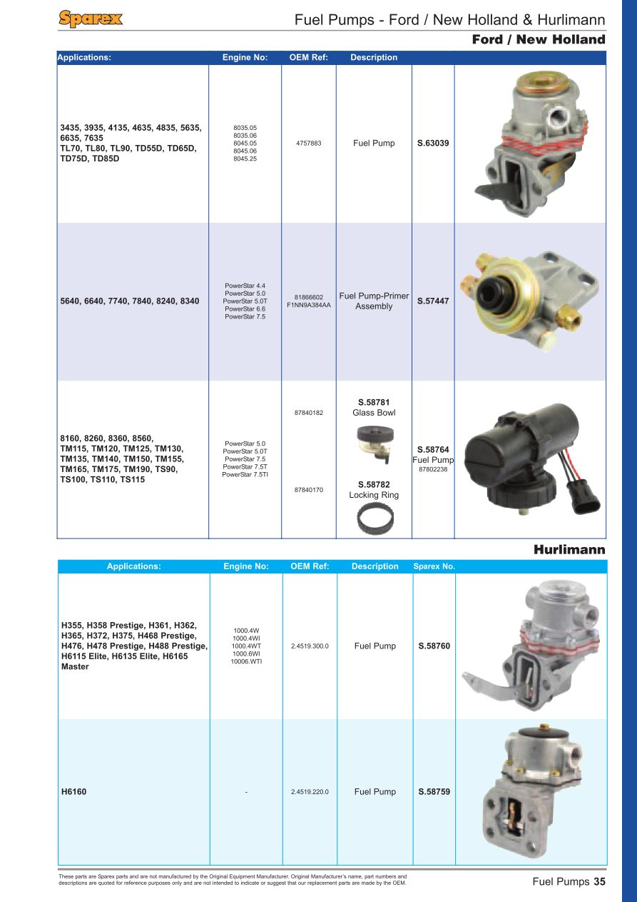 Fuel Injection Front Cover Page 37 Sparex Parts Lists Diagrams Video Camera Diagram Of Images S70218 Fs01 35