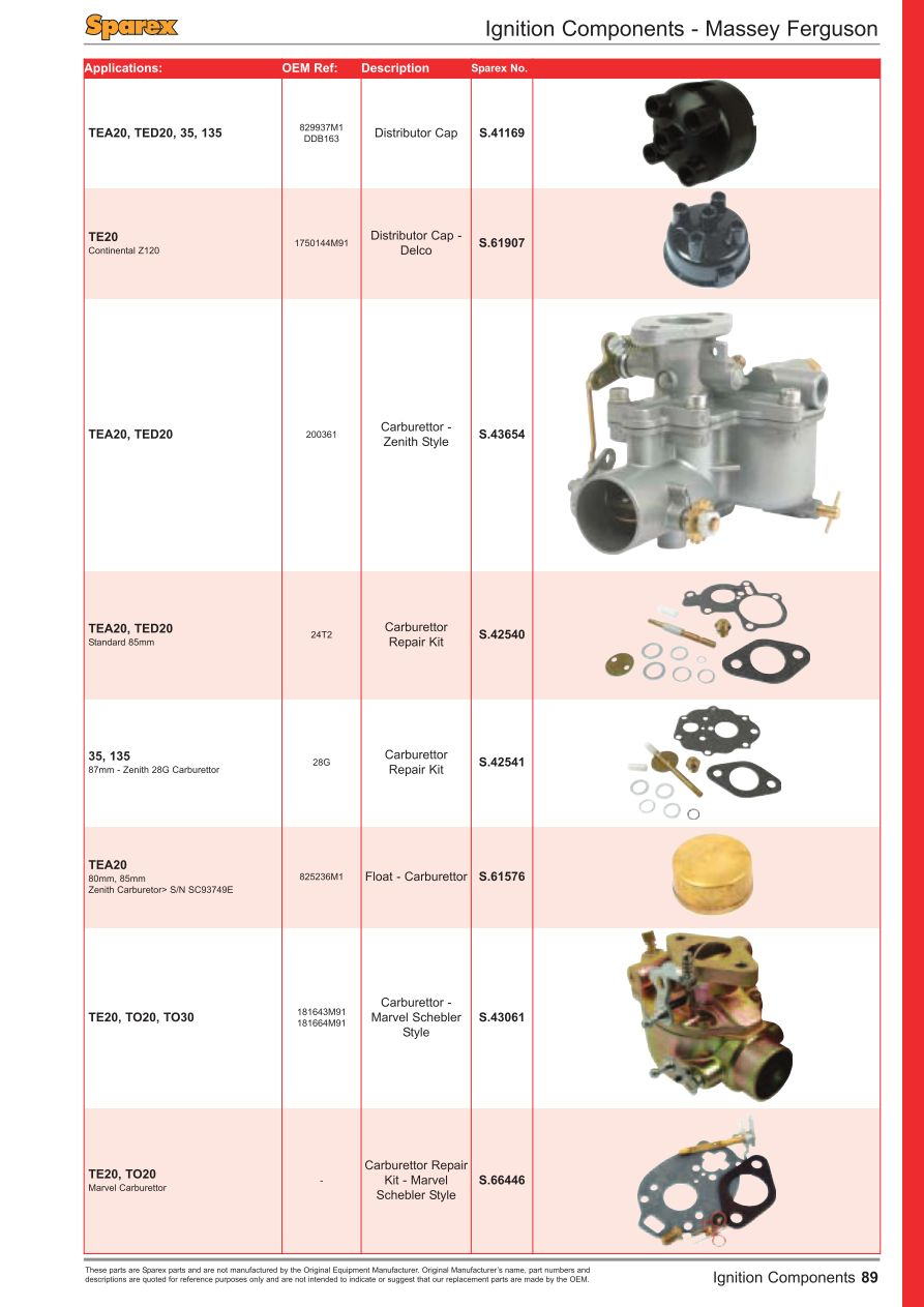 Fuel Injection Front Cover Page 91 Sparex Parts Lists Diagrams Zenith Carburetor Diagram S70218 Fs01 89