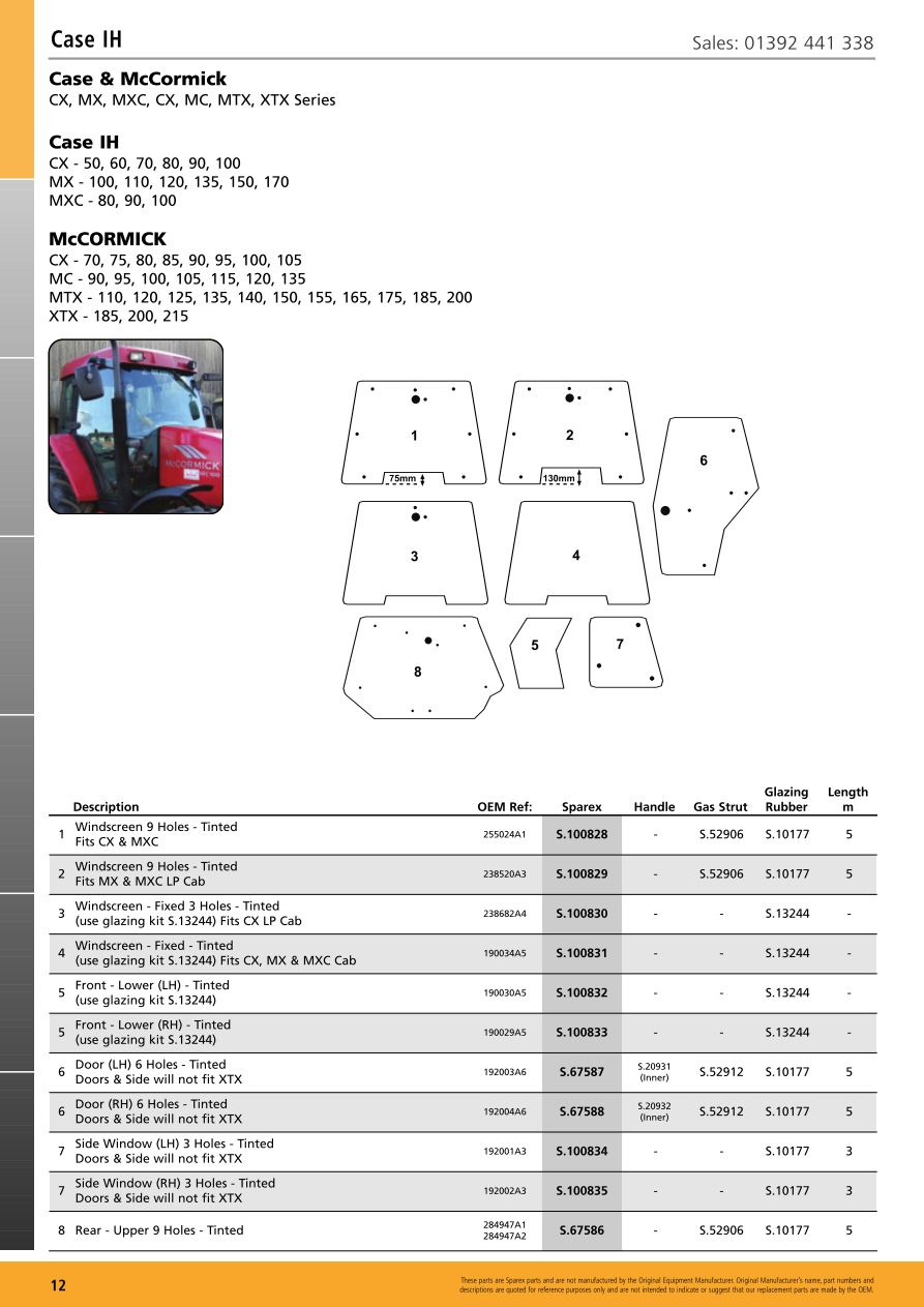 parts lists > cab glass case ih (page 14)