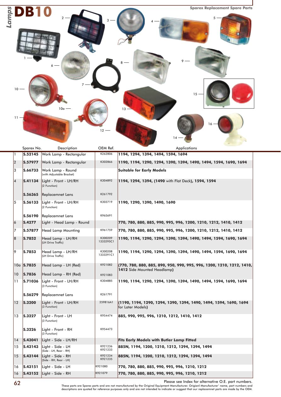 DB10_62 david brown electrics & instruments (page 64) sparex parts lists Case 410 Wiring-Diagram at mifinder.co