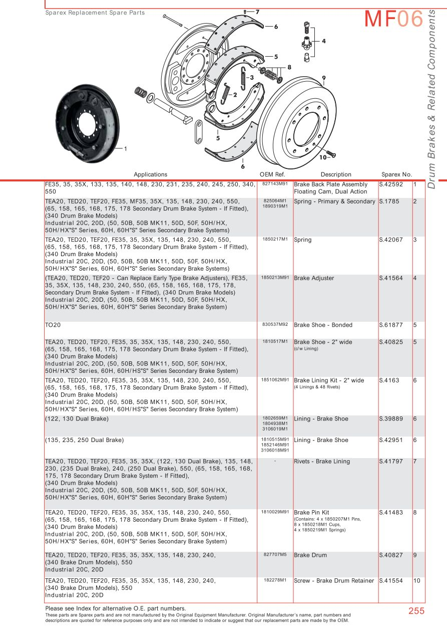 massey ferguson brakes page 265 sparex parts lists diagrams malpasonline co uk