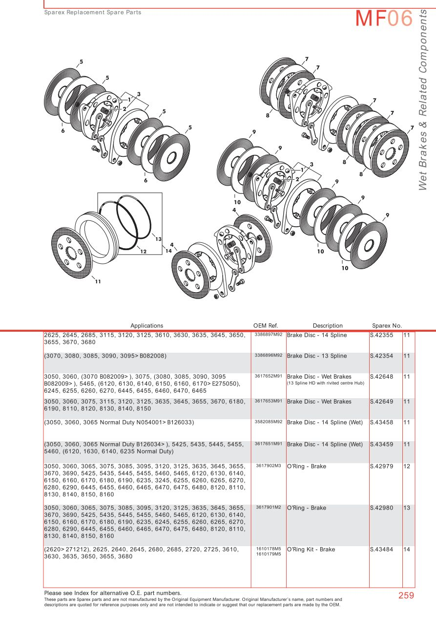 Massey ferguson brakes page 269 sparex parts lists diagrams s70375 massey ferguson mf06 259 pooptronica