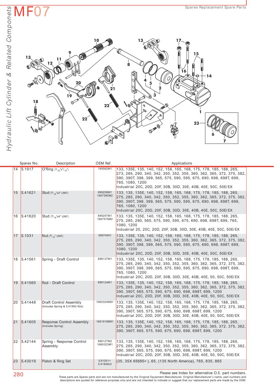 massey ferguson hydraulic pumps page 290 sparex parts lists diagrams malpasonline co uk