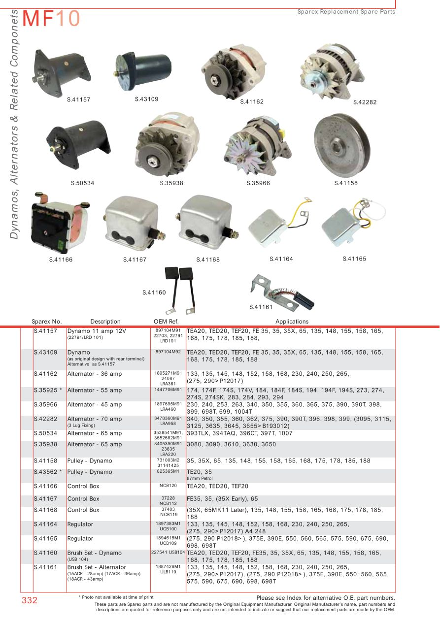 Mf 135 Wiring Diagram Alternator Instruments Wire Center 175 Massey Ferguson Electrics Page 342 Sparex Parts Rh Malpasonline Co Uk 50 Diesel