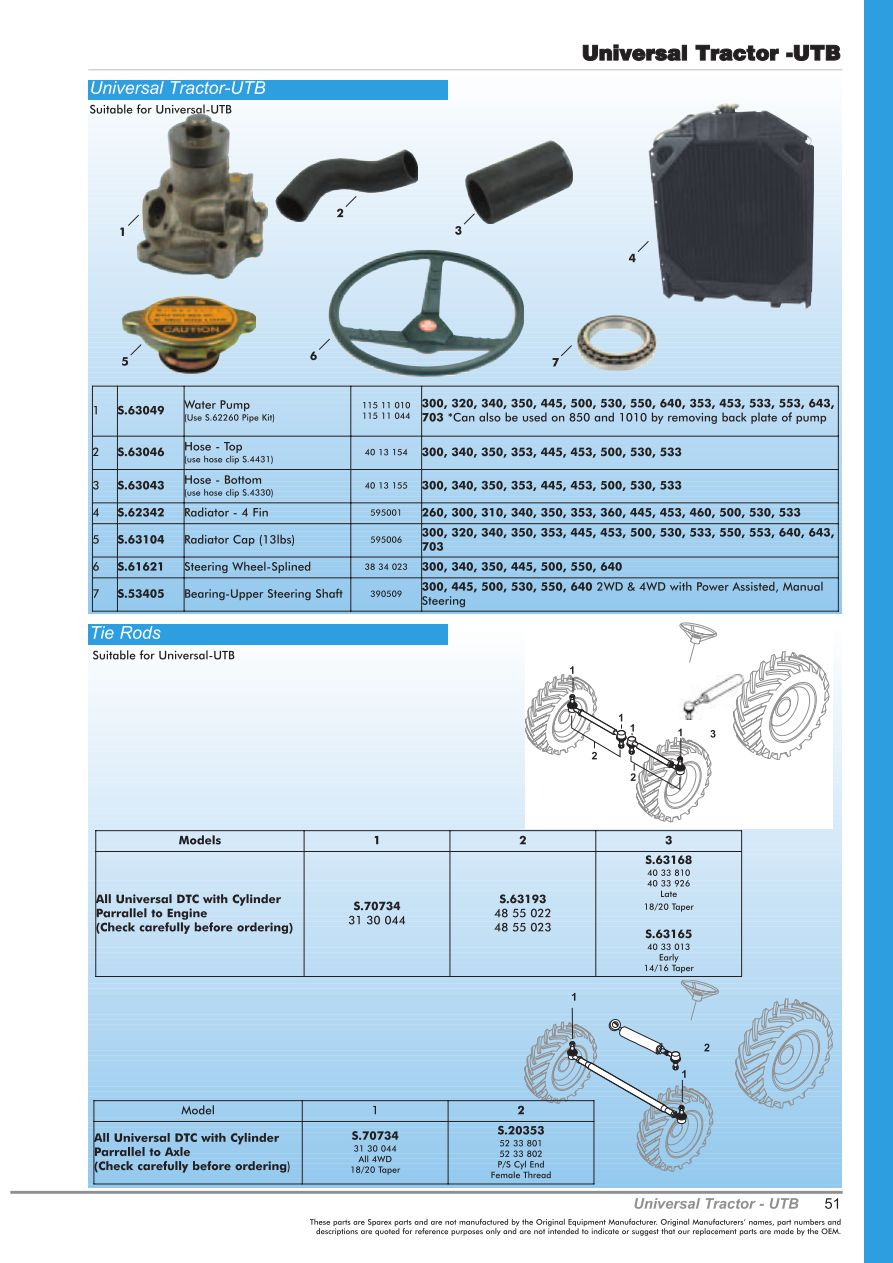 OE New Products Contents (Page 53) | Sparex Parts Lists & Diagrams ...
