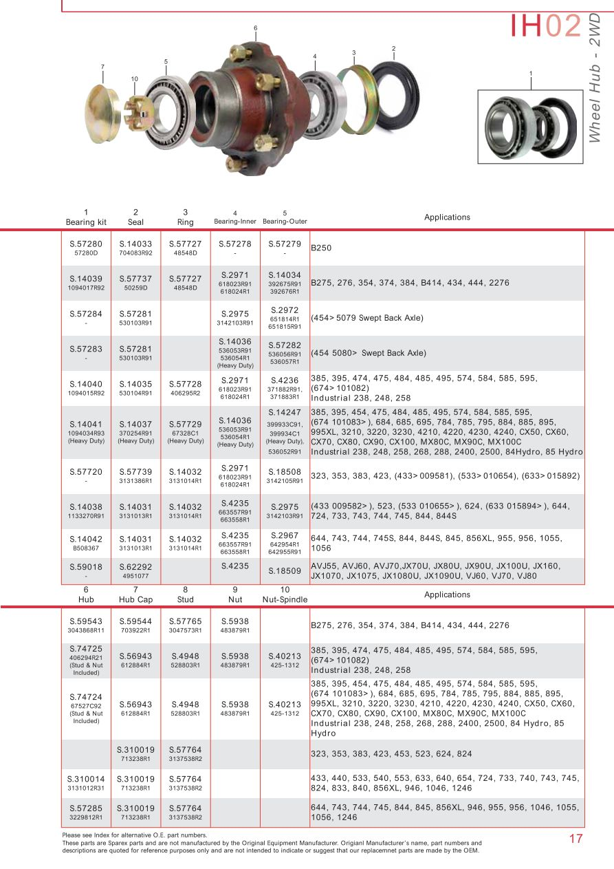 S.73932 Case IH Catalogue - IH02-17