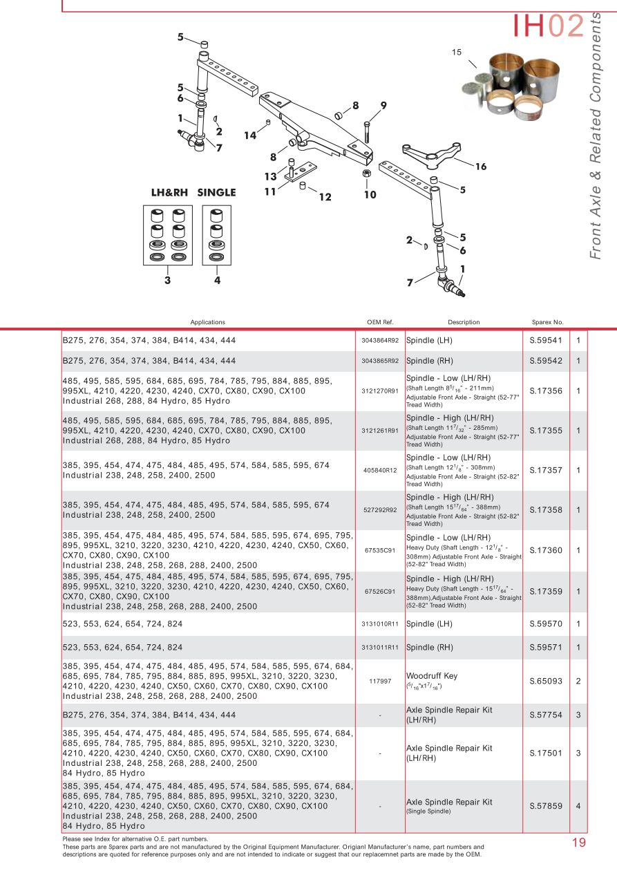 Case Ih Catalogue Front Axle Page 25 Sparex Parts Lists. S73932 Case Ih Catalogue Ih0219. Wiring. Case Ih Cx70 Wiring Schematic At Scoala.co