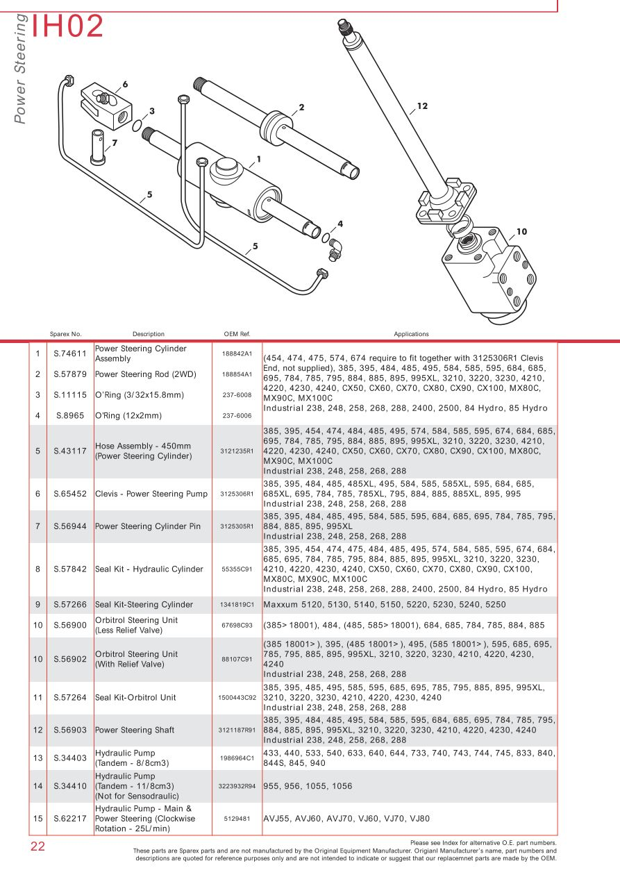 Case Ih Catalogue Front Axle Page 28 Sparex Parts Lists. S73932 Case Ih Catalogue Ih0222. Wiring. Case Ih Cx70 Wiring Schematic At Scoala.co