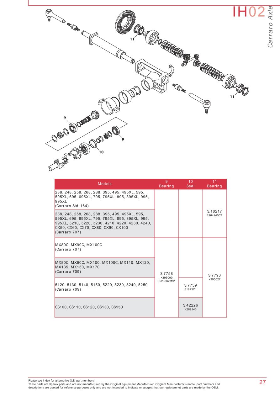 Case Ih Catalogue Front Axle  Page 33