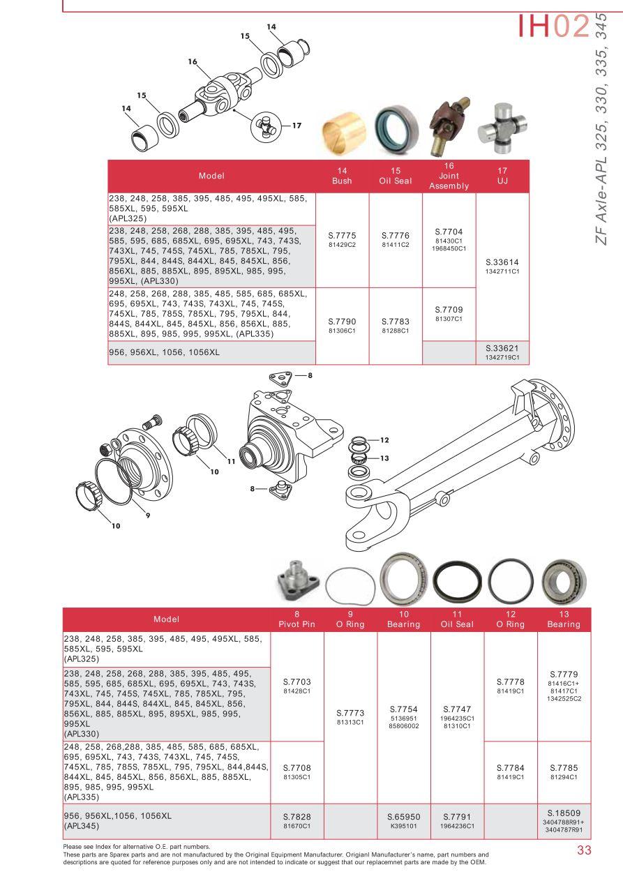 case ih catalogue front axle page 39 sparex parts lists rh malpasonline co  uk 1896 Case Parts Manuals 400 Case Parts Manuals