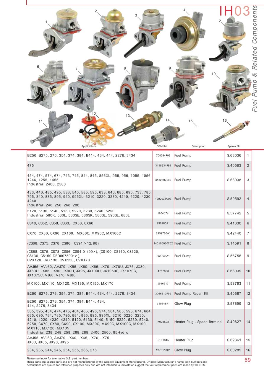 Case Ih Catalogue Engine Page 75 Sparex Parts Lists Diagrams International B275 Wiring Diagram S73932 Ih03 69