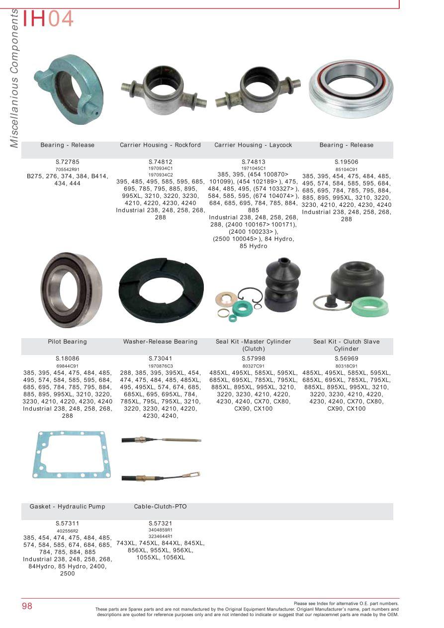 parts lists > case ih catalogue clutch (page 104)