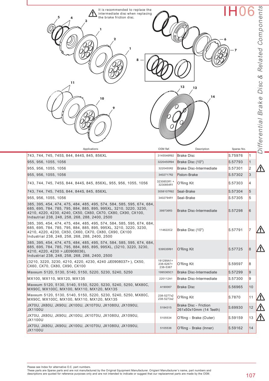 Case Ih Catalogue Brakes Page 113 Sparex Parts Lists Diagrams. S73932 Case Ih Catalogue Ih06107. Wiring. Case Ih Cx70 Wiring Schematic At Scoala.co