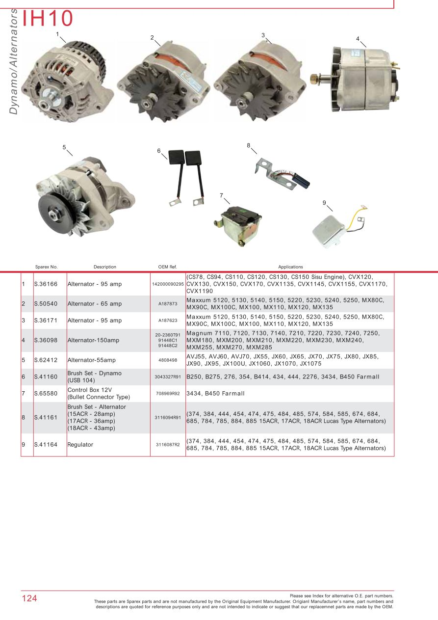 Case Ih Catalogue Electrics  U0026 Instruments  Page 130