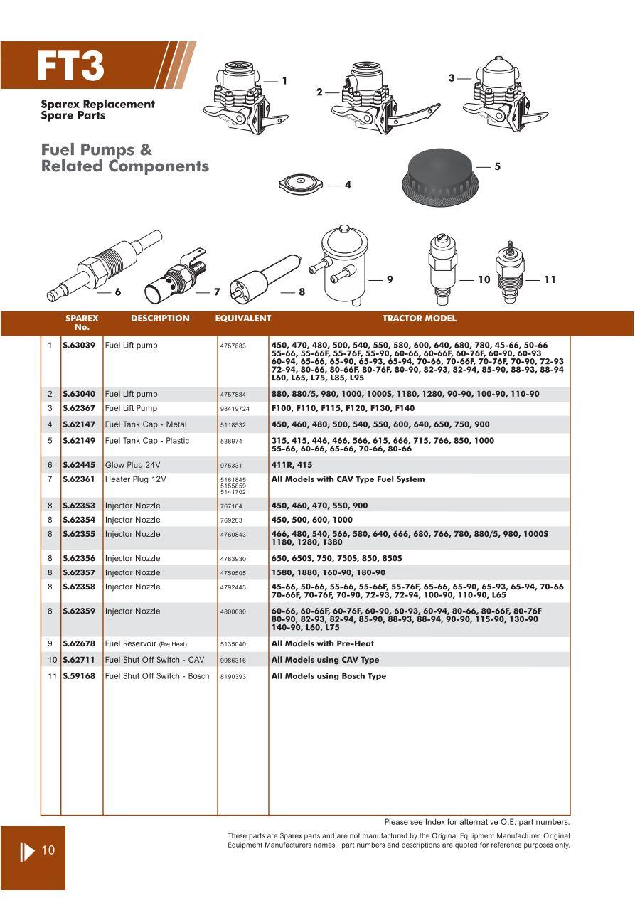 Fiat Engine Page 52 Sparex Parts Lists Diagrams Malpasonline Cav Injection Pump Diagram On Perkins Fuel S70318 Ft03 10