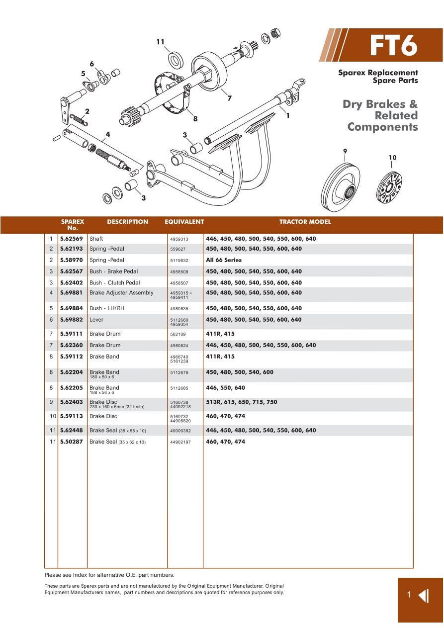 [WLLP_2054]   Fiat Brakes (Page 89) | Sparex Parts Lists & Diagrams | Malpasonline.co.uk | Fiat Brakes Diagram |  | MalpasOnline