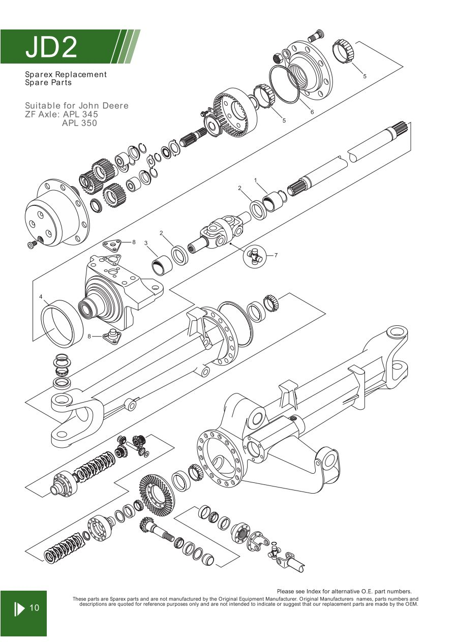 John Deere Front Axle Steering Related Components Page 26 Peg Perego Wiring Diagram S70296 Jd02 10