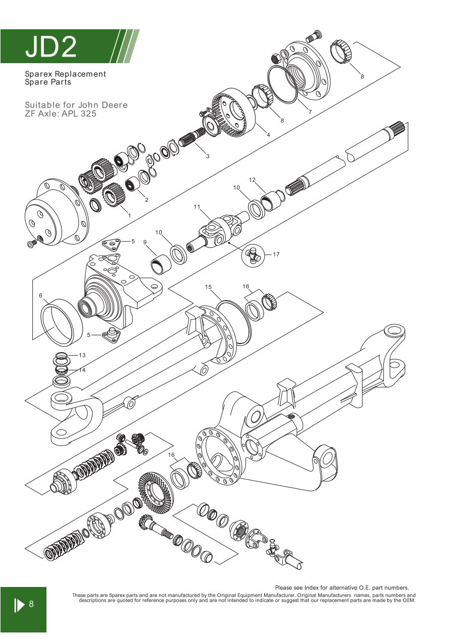 john deere front axle steering related components page. Black Bedroom Furniture Sets. Home Design Ideas