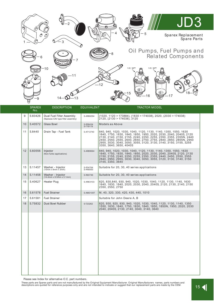 John Deere Engine Replacement Parts Page 49 Sparex Lists. S70296 John Deere Jd0315. John Deere. John Deere 2030 Pto Shaft Diagram At Scoala.co