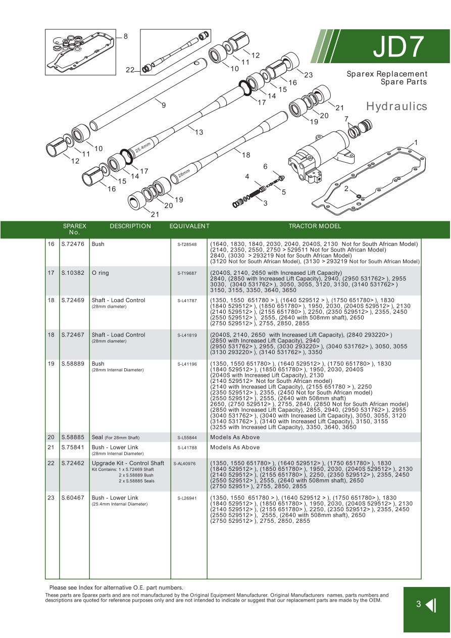 JD07_3 john deere hydraulic pumps & components (page 83) sparex parts