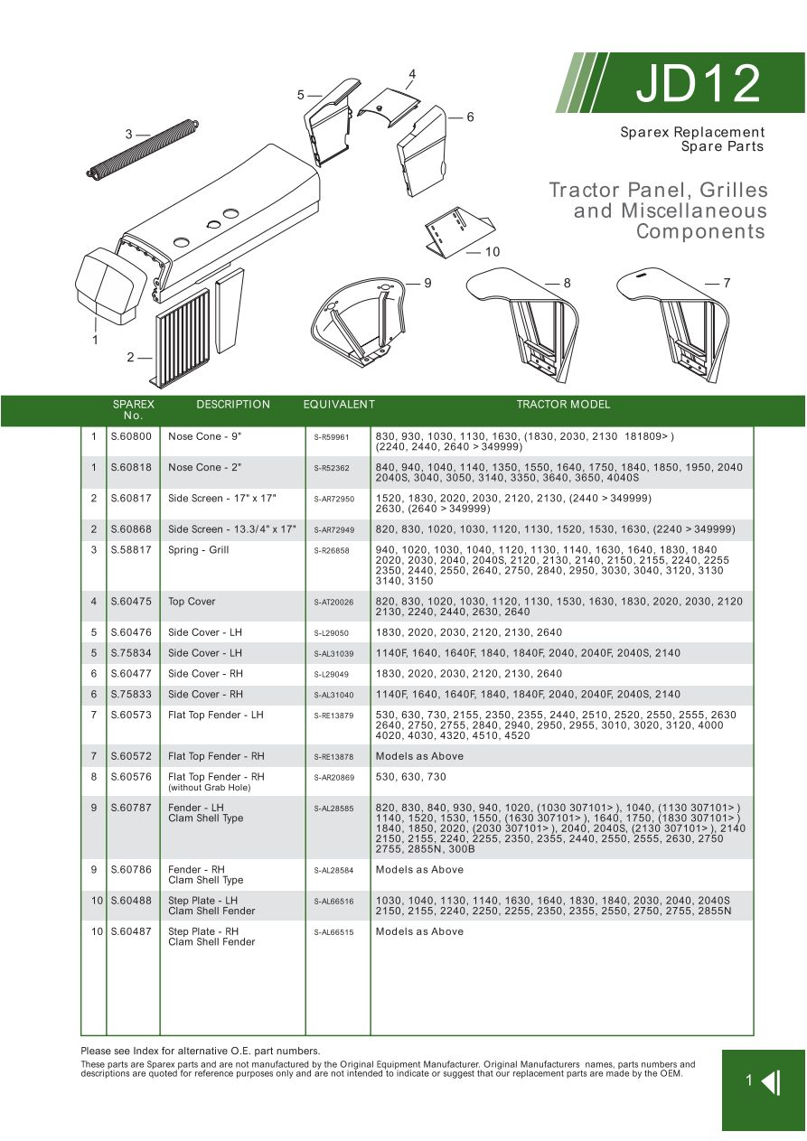John Deere Panels Grilles Emblems Paints Tractor Manuals Page. S70296 John Deere Jd121. John Deere. 2355 John Deere Electrical Diagram At Scoala.co