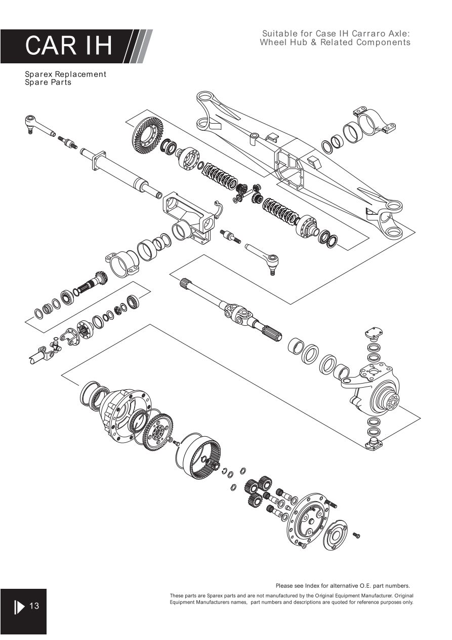 Fiat Tractor Spare Parts Uk Camera Wiring Diagram Furthermore Security 4wd Carraro Axle Suitable For Ih Page 46 Sparex Lists