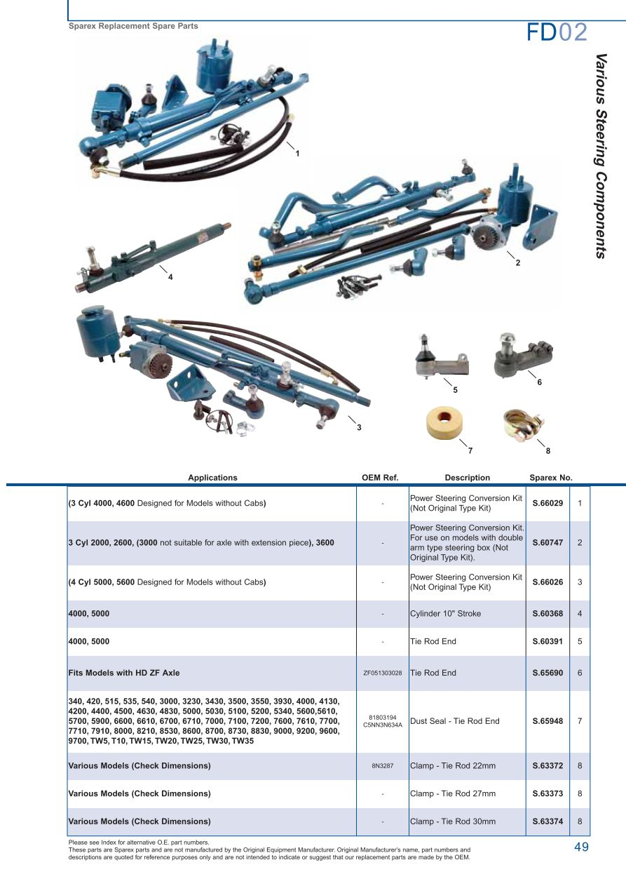 FD02_49 ford front axle (page 55) sparex parts lists & diagrams ford 5000 tractor parts diagram at n-0.co