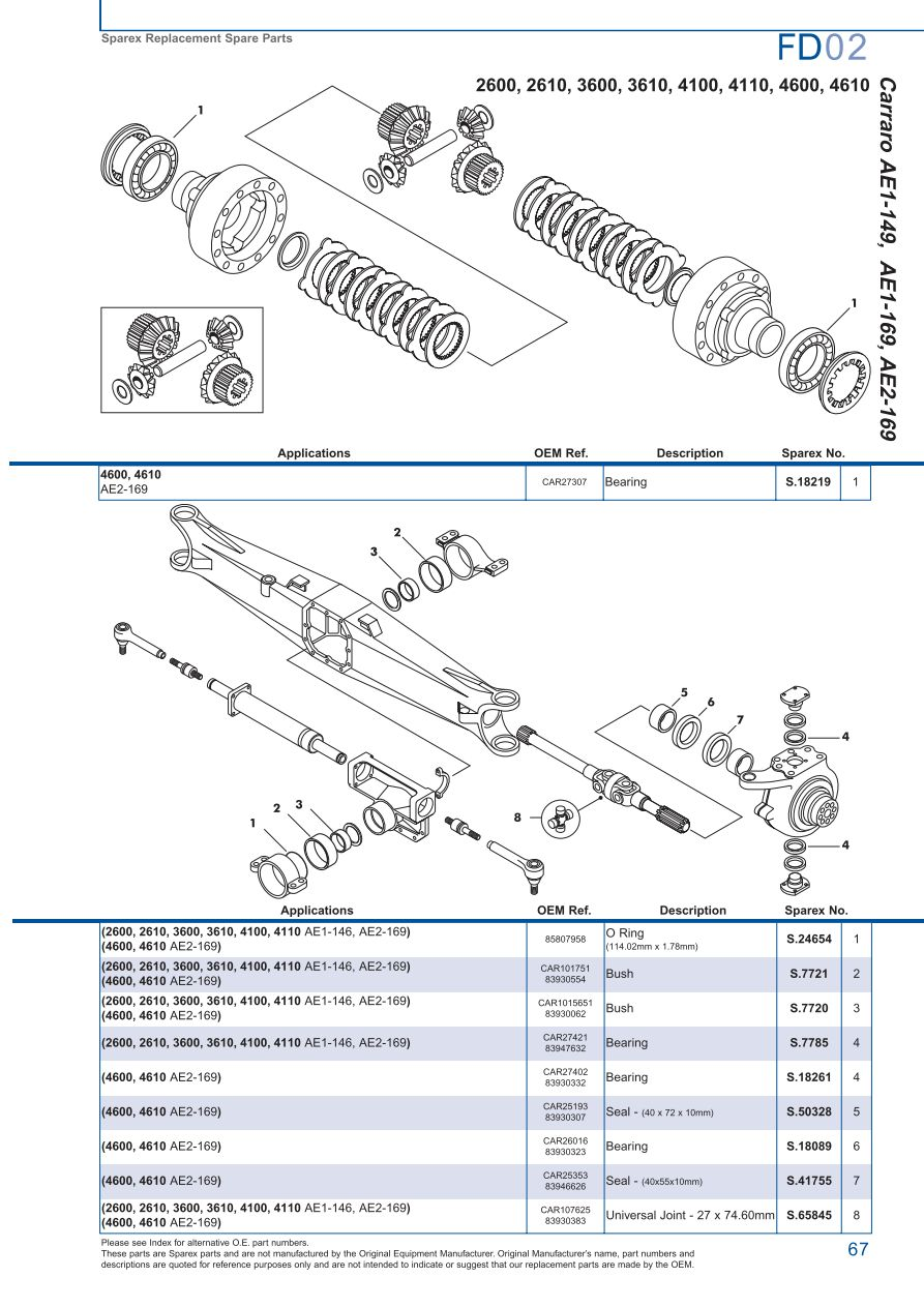 Ford front axle page 73 sparex parts lists diagrams s73978 ford fd02 67 pooptronica Images