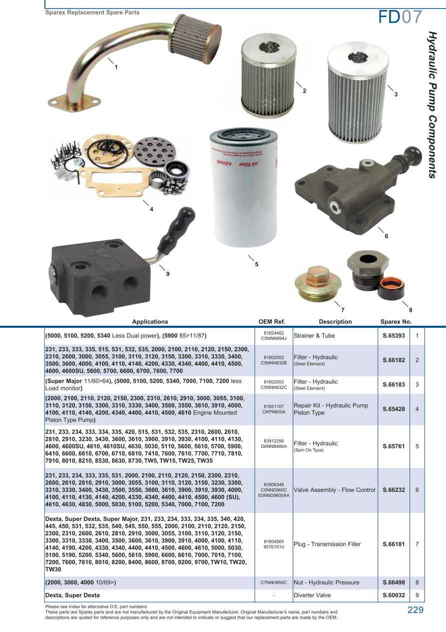 Ford hydraulic pumps page 235 sparex parts lists diagrams s73978 ford fd07 229 pooptronica Images