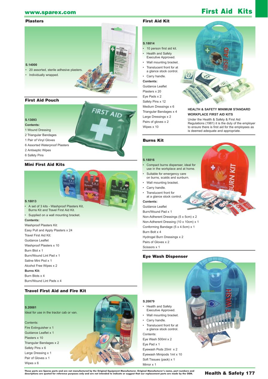 parts lists > accessories 2014 health & safety (page 179)