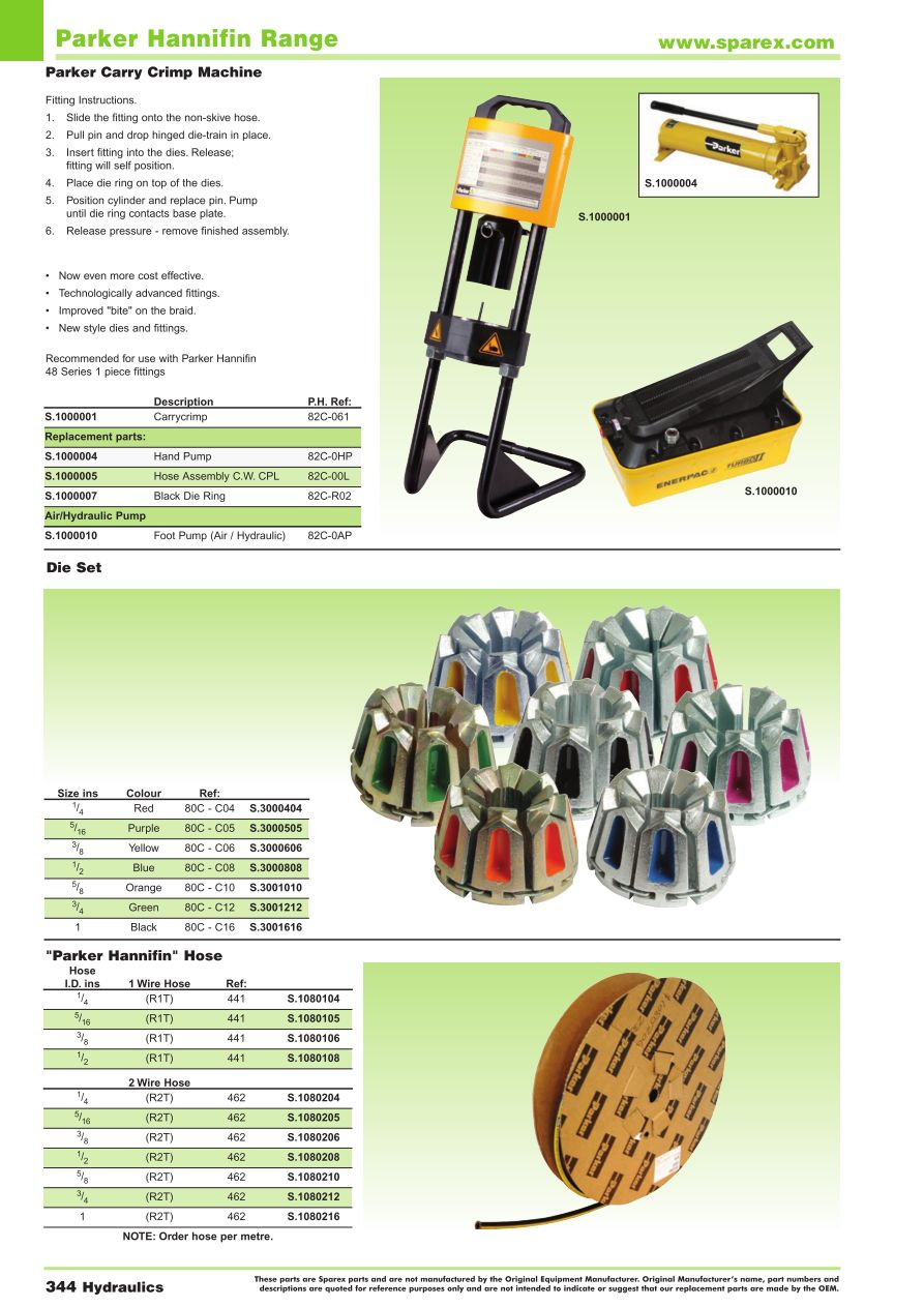 Accessories 2014 Hydraulics Page 346 Sparex Parts Lists Parker Hydraulic Pump Wiring Diagram S74000 Aa13 344