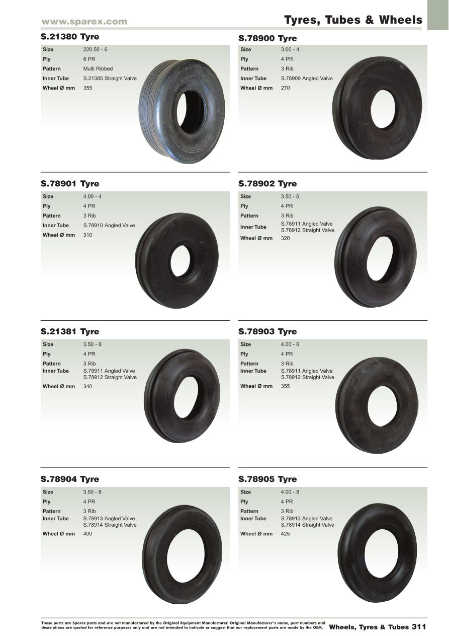 All Seasons 2014 Tyres, Tubes & Wheels (Page 341) | Sparex
