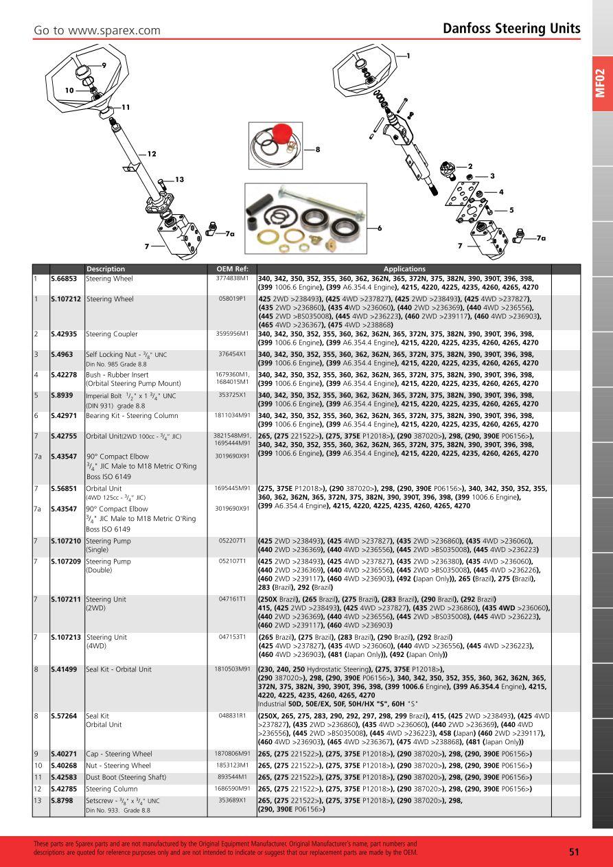 MF02_51 massey ferguson 2013 front axle (page 57) sparex parts lists