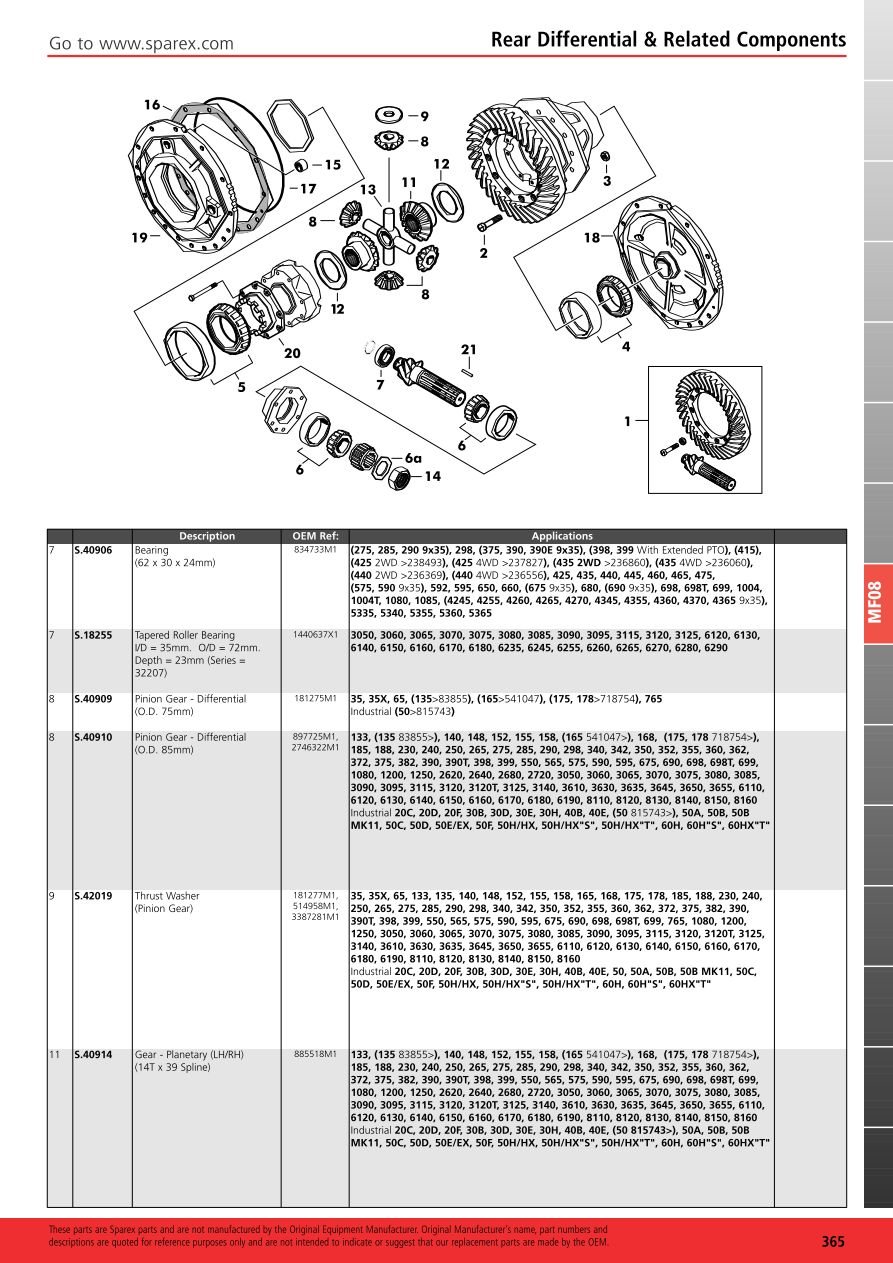 massey ferguson 390 parts manual