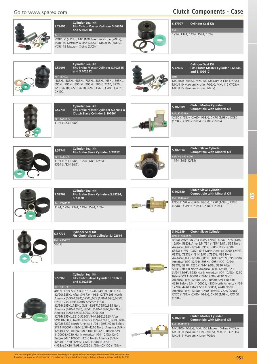 Renault Case International 1294,1594,1694 Tractor Brake Slave Cylinder Seal Kit