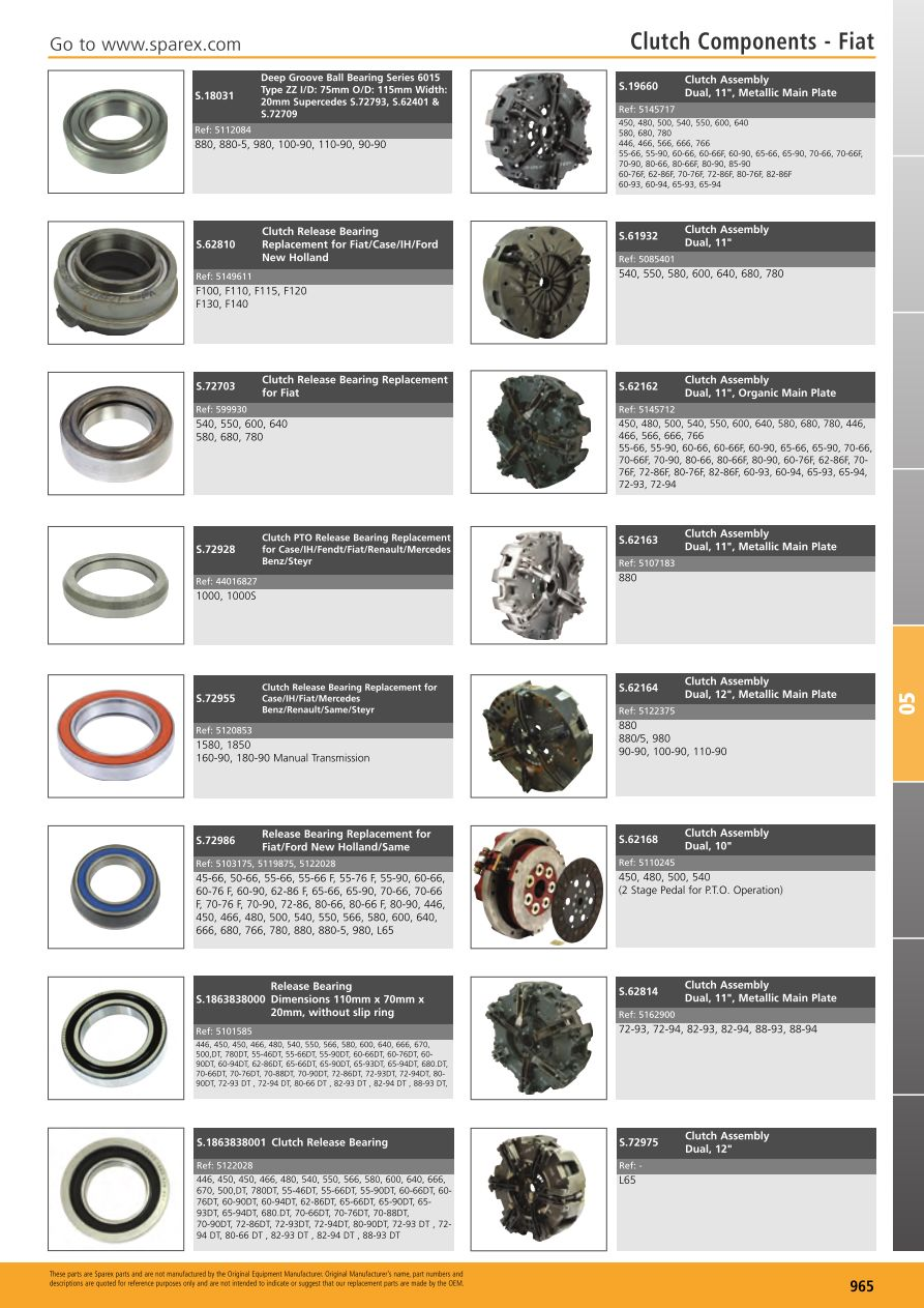 S.700267 Tractor Parts Volume 1 - TP05-965