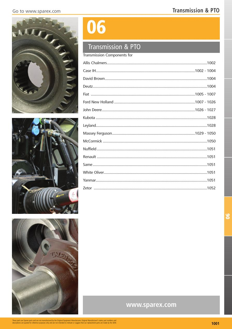 S.700267 Tractor Parts Volume 1 - TP06-1001