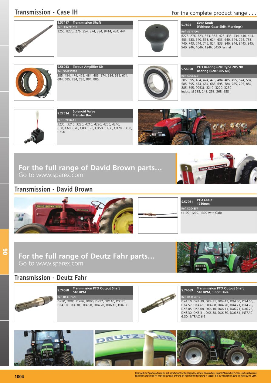 Tractor Parts Volume 1 Transmission  Page 1006