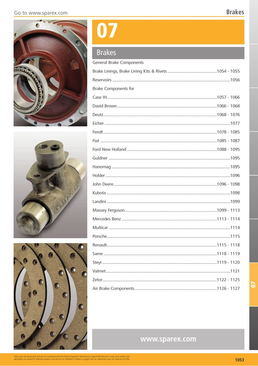 S.700267 Tractor Parts Volume 1 - TP07-1053