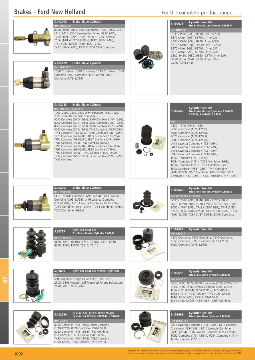 Tractor parts volume 1 brakes page 1094 sparex parts lists s700267 tractor parts volume 1 tp07 1092 ccuart Choice Image
