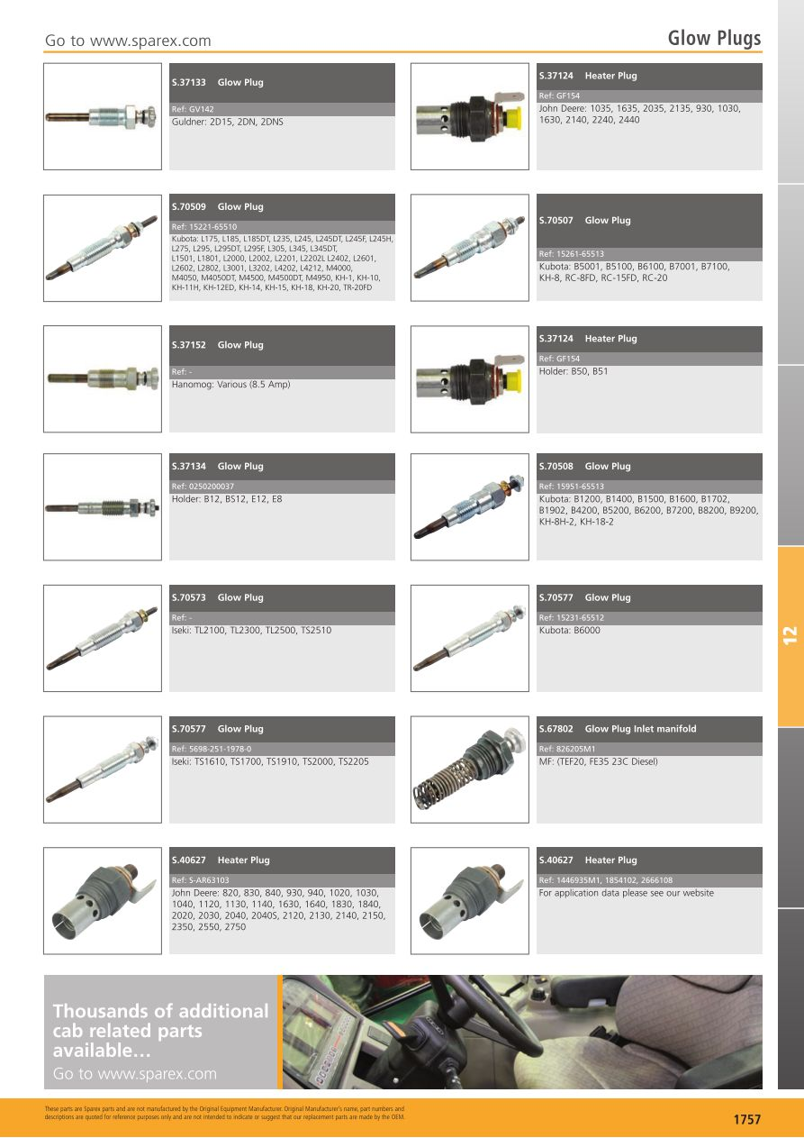Tractor Parts Volume 2 Electrical (Page 615) | Sparex Parts ... on