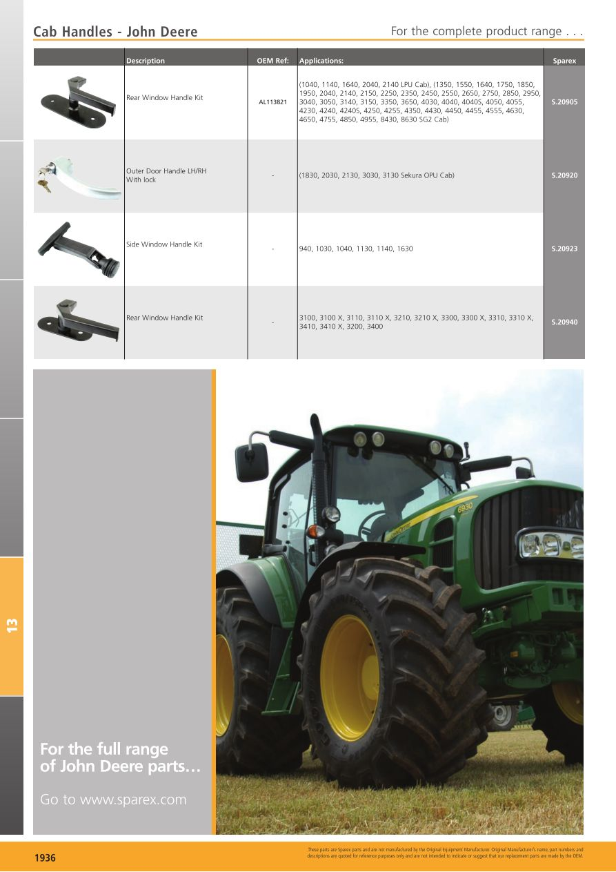 Tractor Parts Volume 2 Cab  Page 794
