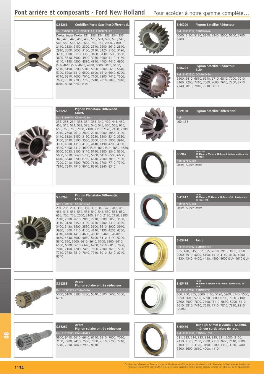 65476 Seal Rear Axle C9NN4N109A Ford 2000 231 2310 233 234 2600 2610 3000 333