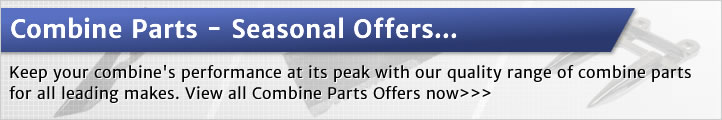 Seasonal offers on combine parts