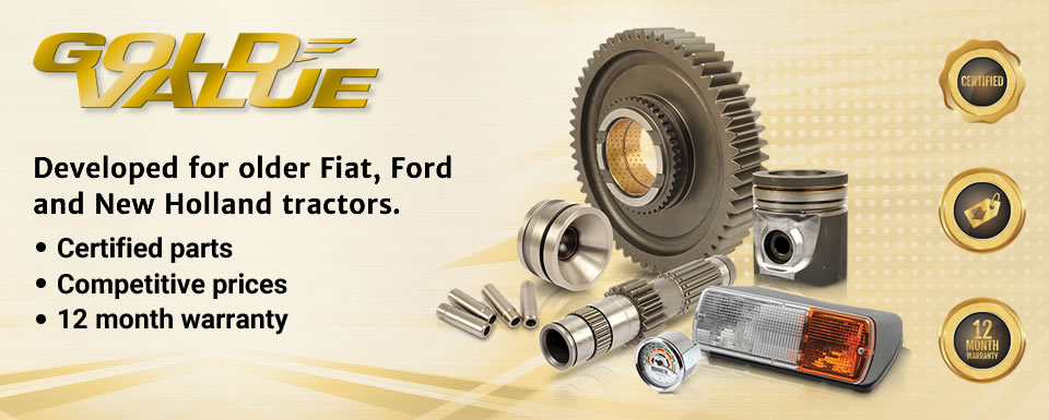 Gold Value Parts for older Fiat, Ford and New Holland tractors