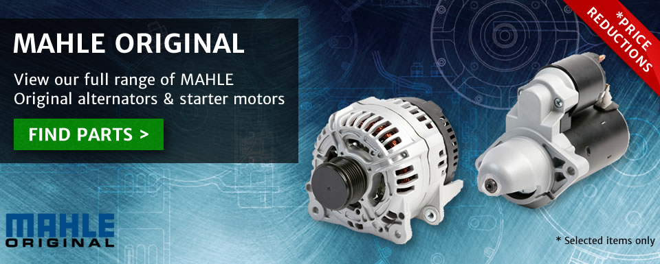 MAHLE Alternators and Starter Motors - price reductions