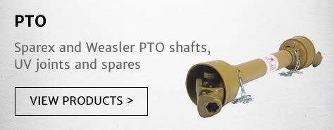 Sparex and Weasler PTO shafts, UV joints and spares