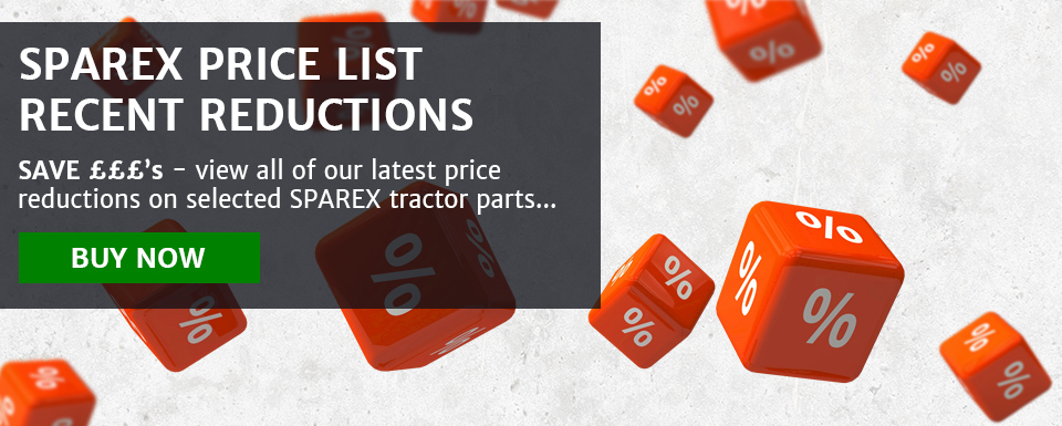 Sparex price list - latest reductions - SAVE £££'s on selected tractor parts