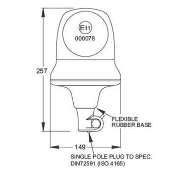 B25 Plug-in Flexi Base Beacon (S.13099 - diagram)